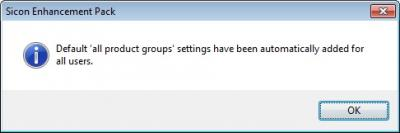 Sicon Enhancement Pack User Configured Product Groups