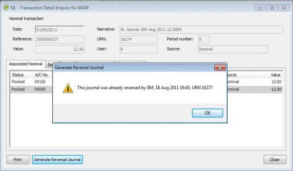 Sicon Enhancement Pack Generate Reversal Journal