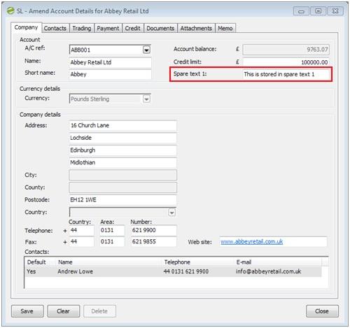 Sicon Enhancement Pack Maintain Customer Spare Field