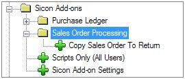 Sicon Enhancement Pack SOP copy SO to Return