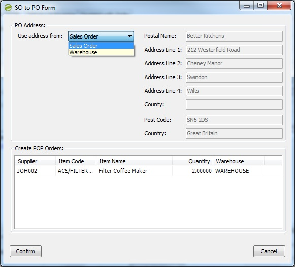 Sicon Enhancement Pack SOP generate associated POs from SOs