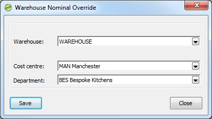 Sicon Enhancement Pack SOP override SOp nominal by warehouse