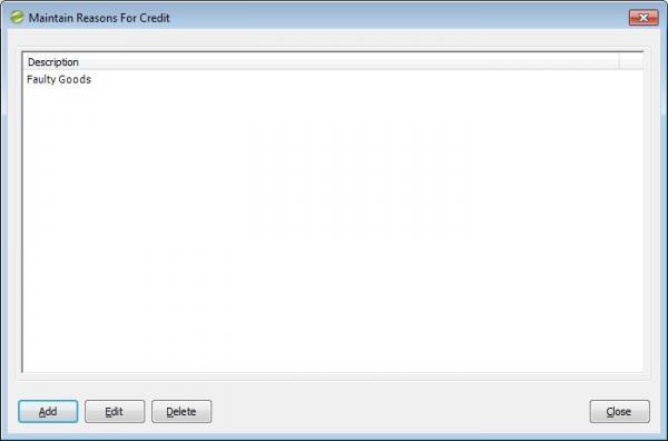 Sicon Enhancement Pack SOP sales return reason for credit