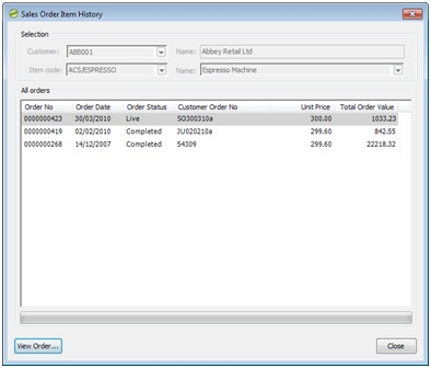 Sicon Enhancement Pack SOP so stock item history button 2