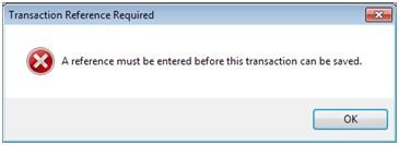 Sicon Enhancement Pack Transaction Reference Duplicate Warning