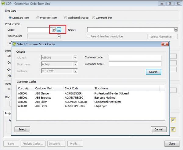 Sicon Enhancement Pack stock item customer codes 2