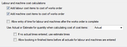 Sicon Works Order Processing Calculations Tab 2