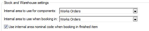 Sicon Works Order Processing stock and warehouse tab