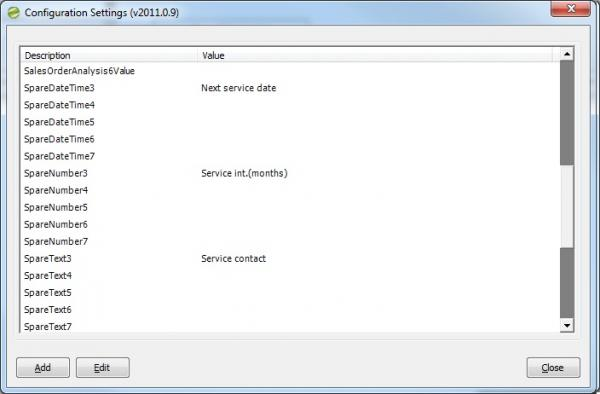 Sicon Configuration Settings