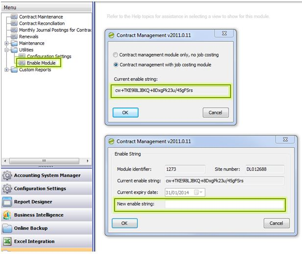 Sicon Contract Manager Enable Module