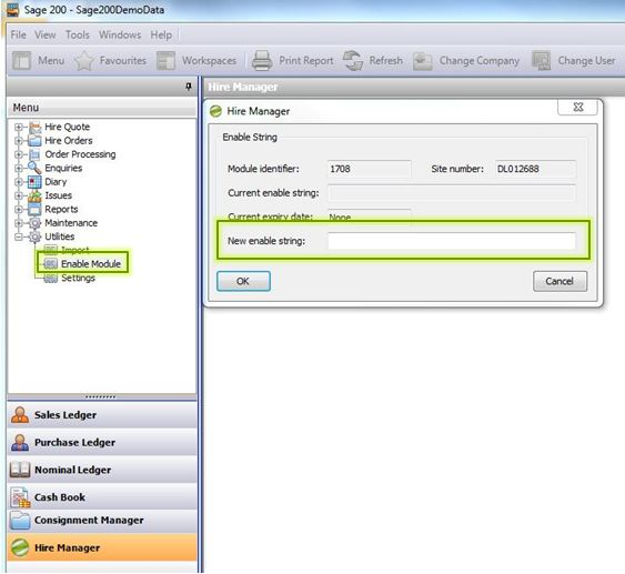 Sicon Hire Manager Enable Module