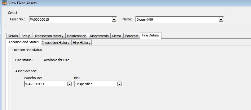 Hire Manager View Fixed Assets 2