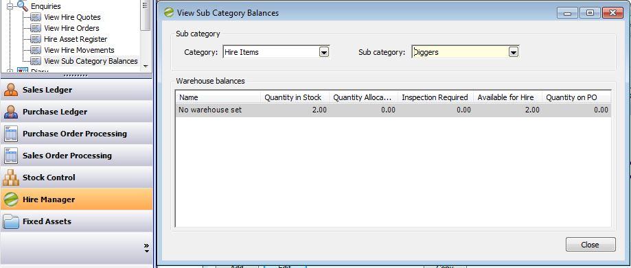 Hite Manager View Sub Category Balances