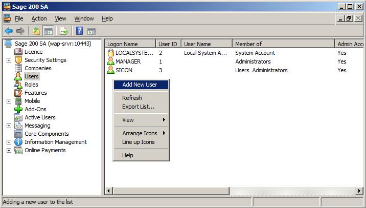 WAP Install - Add new user