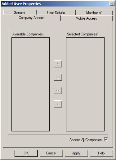 WAP Install - Company Access