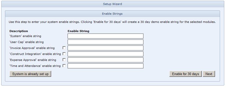 WAP Install - Enable Strings