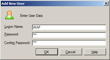 WAP Install - Enter User Data