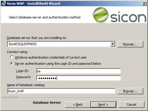 WAP Install - SQL