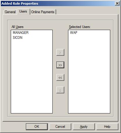 WAP Install - Selected User