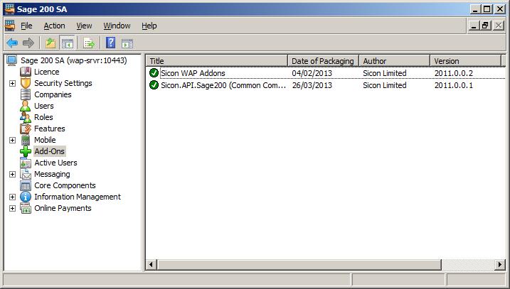 WAP Install - addons installed