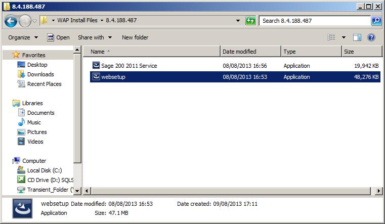 WAP Installation - websetup