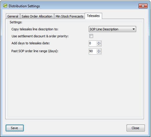 Distribution Manager Help and User Guide Distribution Settings