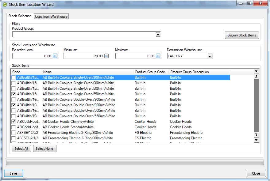Distribution Manager Help and User Guide Stock Item Location Wizard
