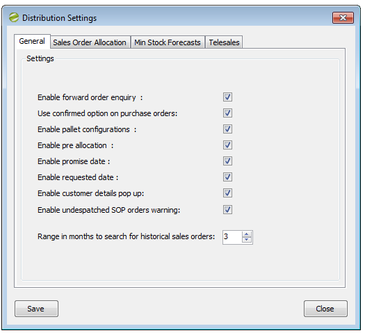 Distribution Manager Help and User Settings