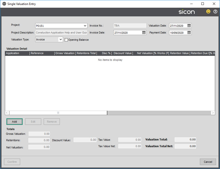 Sicon Construction Help and User Guide - 1.7-2