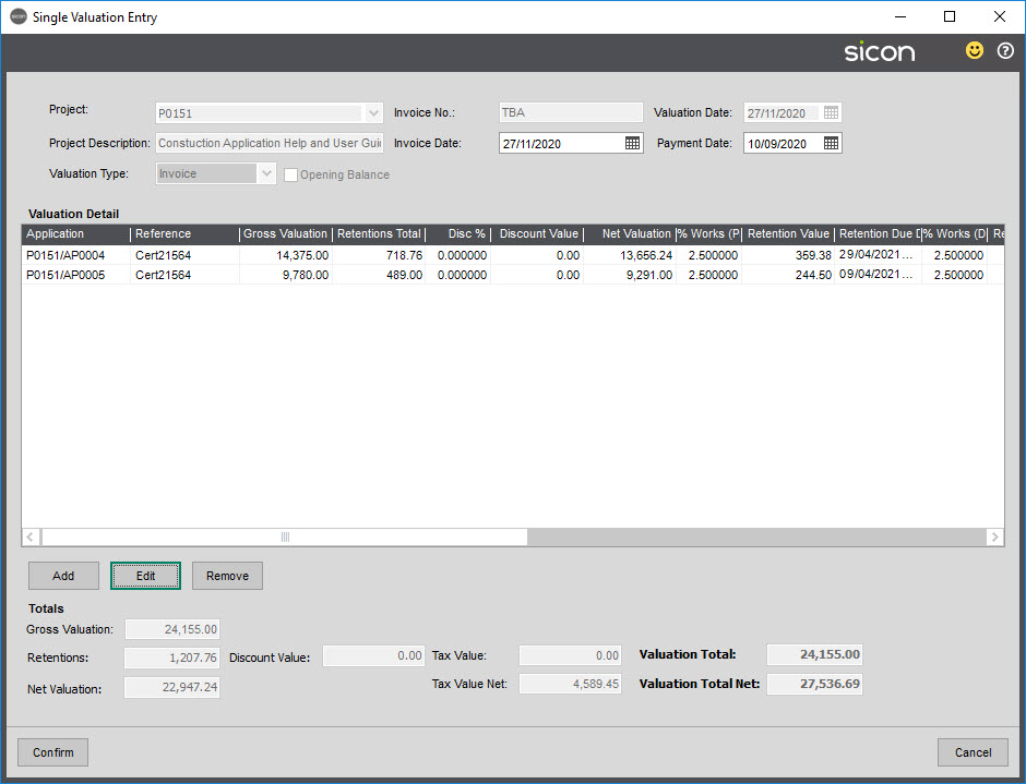 Sicon Construction Help and User Guide - 1.7-5