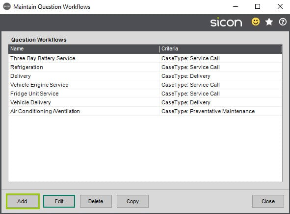 Sicon Service Help and User Guide - 11.8.1 screen 7