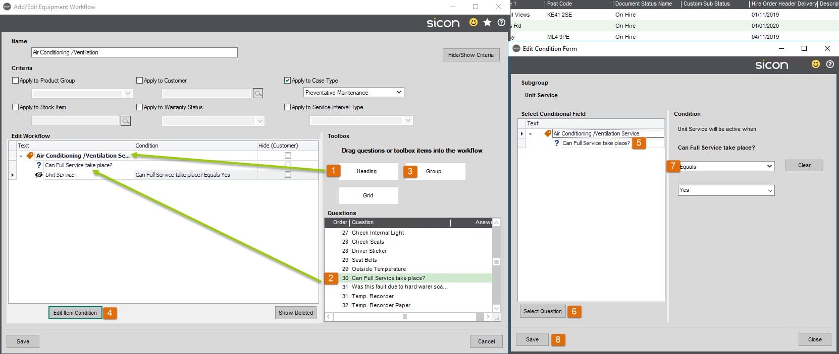 Sicon Service Help and User Guide - 11.8.1 screen 8