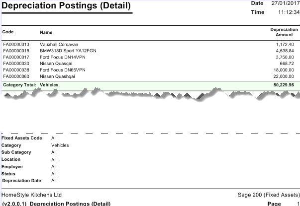 Sicon Fixed Assets Help and User Guide - Depreciation postings