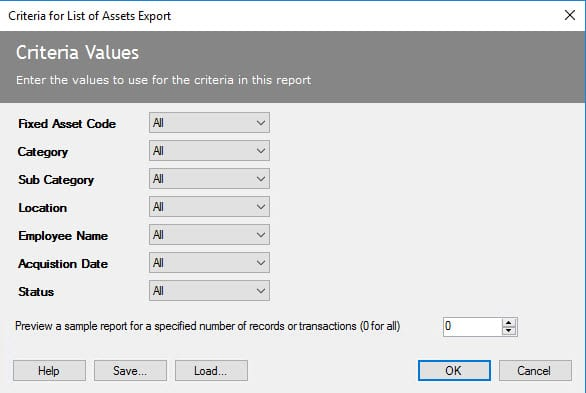 Sicon Fixed Assets Help and User Guide - Details Report 2