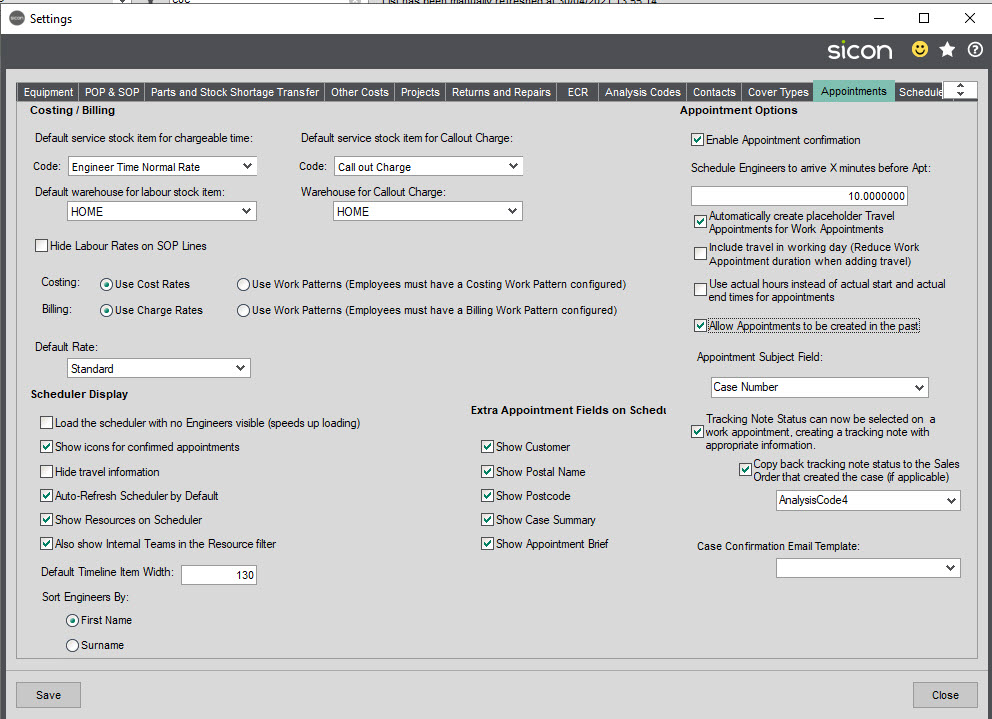 Sicon Service Help and User Guide - 3