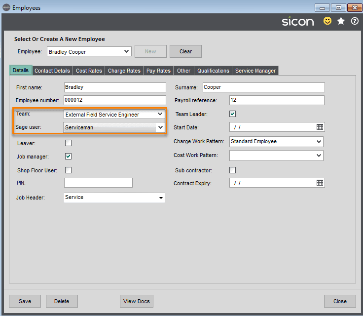 30. Sicon Service Help and User Guide - Employees