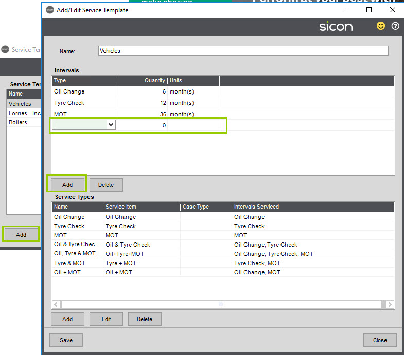 Sicon Service Help and User Guide - 4.21 Screen 2