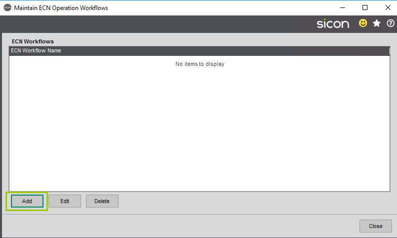 Sicon Service Help and User Guide - 4.27 screen 1