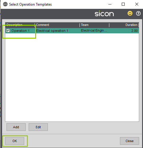 Sicon Service Help and User Guide - 4.27 screen 3