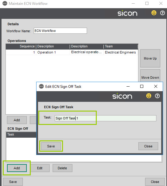 Sicon Service Help and User Guide - 4.27 screen 4