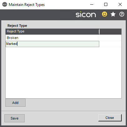 Sicon Service Help and User Guide - 4.28 screen 1