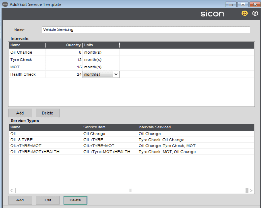 45. Sicon Service Help and User Guide - Service Templates 3