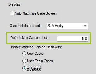 Sicon Service Help and User Guide - 7 Service Desk screen 2