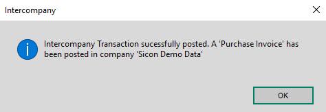 Sicon Intercompany Help and User Guide - 7.3 Intercompany