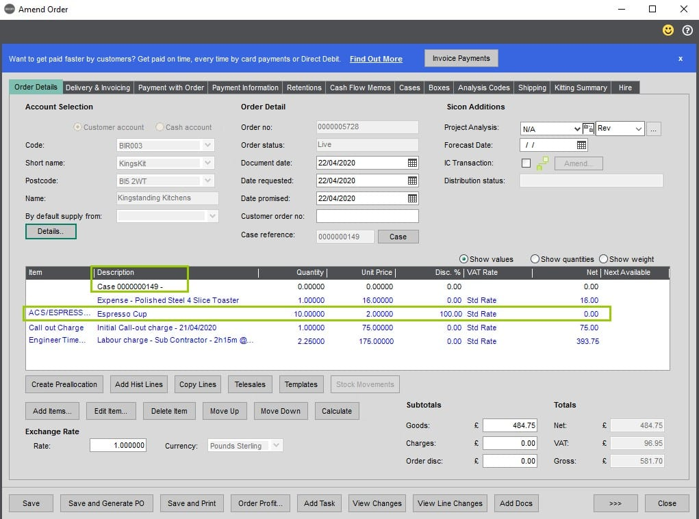 Sicon Service Help and User Guide - 8.25 Billing Summary screen 8