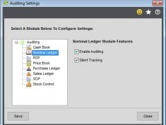 Options To Enable Auditing In Each Sage 200 Module