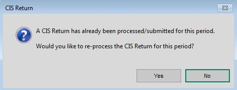 CIS Resubmit Warning