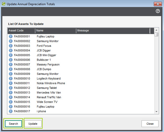Sicon Fixed Assets - Import Fixed Assets from CSV