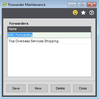 Sicon Distribution Manager Help and User Guide Forwarder Maintenance