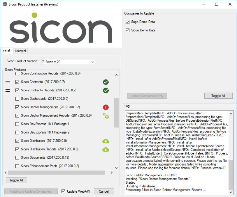 Sicon Product Installer - Image 4